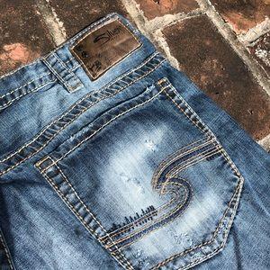 Men's Silver Gordie loose fit straight leg jeans